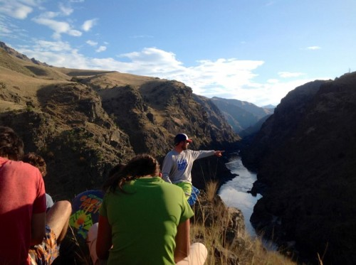 Sam Teaches a Leadership Style Lesson at the entrance of Blue Canyon, on the Lower Salmon River, ID.