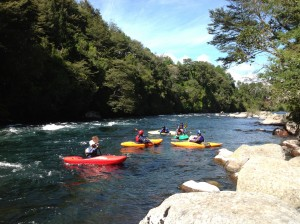 Enjoying a sunny day on the Lincura River