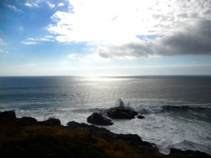 This is a picture that I took while in Buchopereo. I like this picture because it captures the beauty of Chile and also shows where we were surfing during our time at the beach.