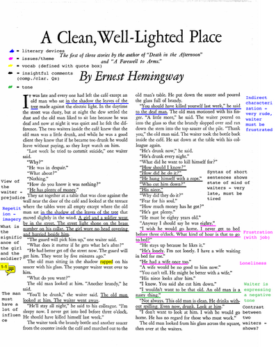 english class students demonstrate their learning alzar school sample annotated hemingway1