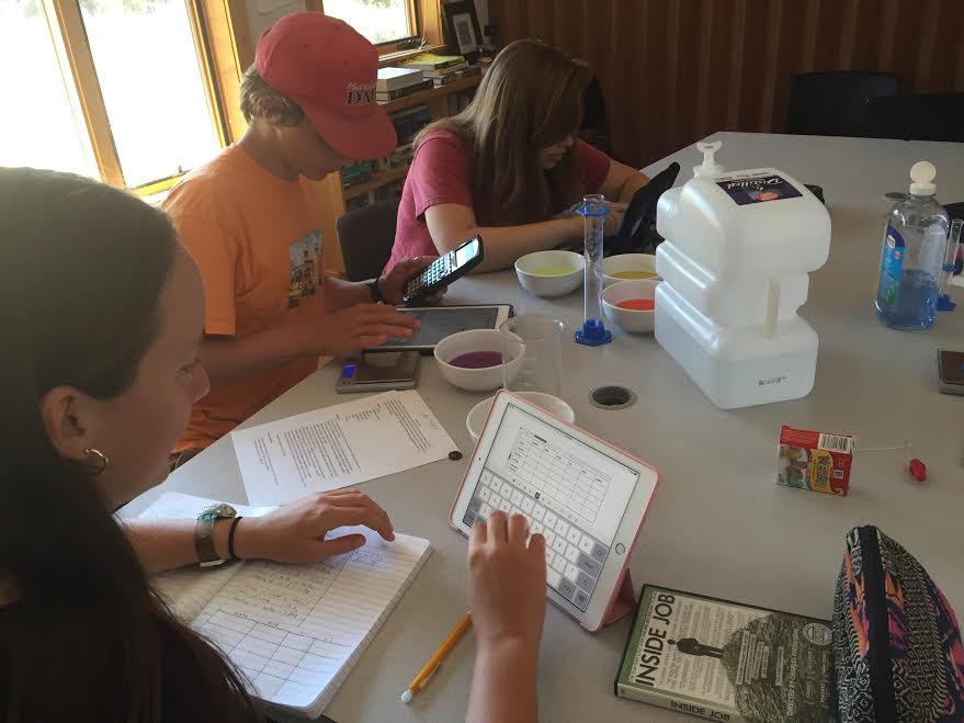 Students Completing a Lab