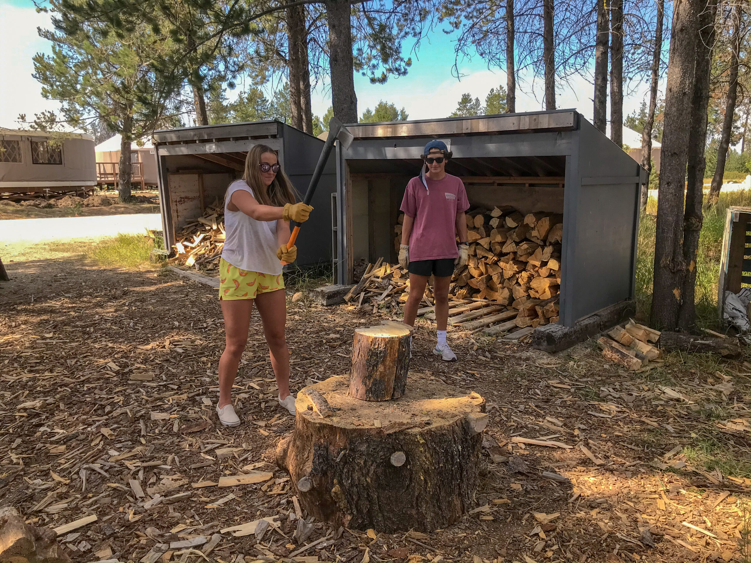 Wood Chopping With a Purpose